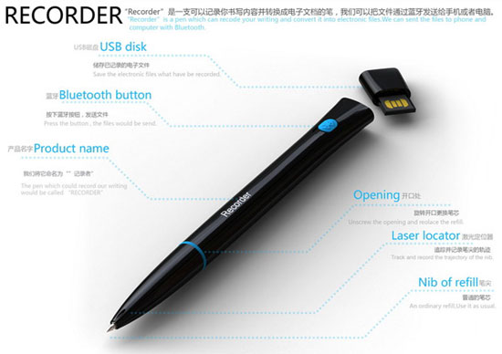 Recorder 3 Industrial Design Concept Inspiration
