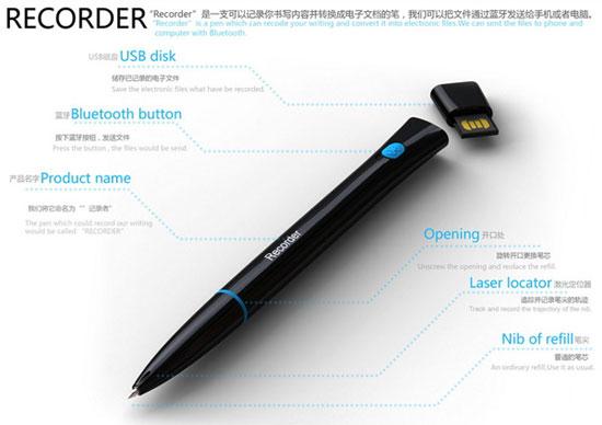 Recorder 3 Industrial Design Concept Inspiration