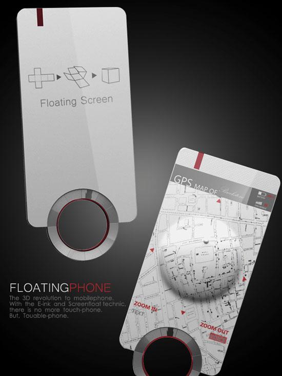 Floating Phone 1 Industrial Design Concept Inspiration