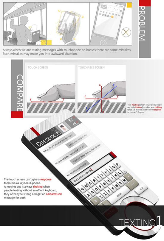 Floating Phone 4 cIndustrial Design Concept Inspiration