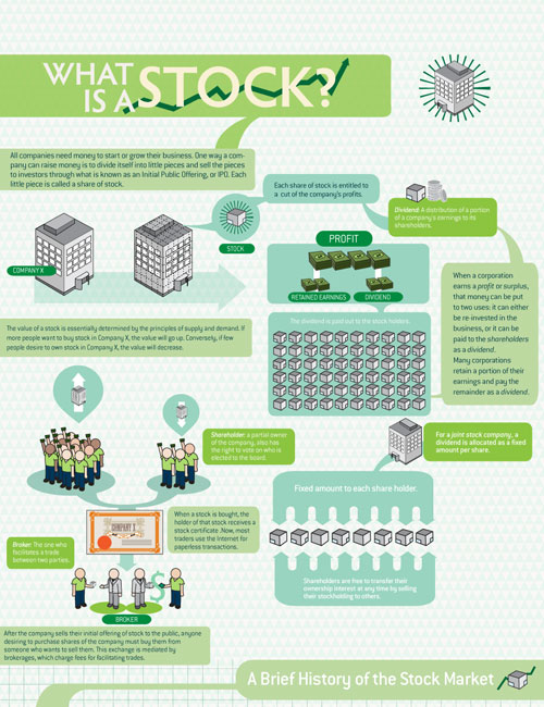 What Is a Stock? well designed infographic