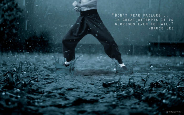 Motivational Bruce Lee quote wallpaper