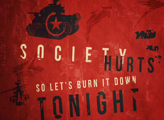 BURN THE SOCIETY wallpaper