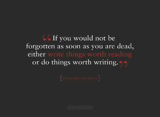 DO THINGS WORTH WRITING wallpaper