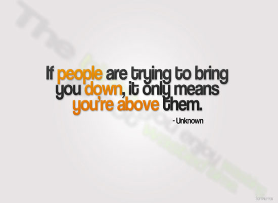 DON'T LET PEOPLE BRING YOU DOWN wallpaper
