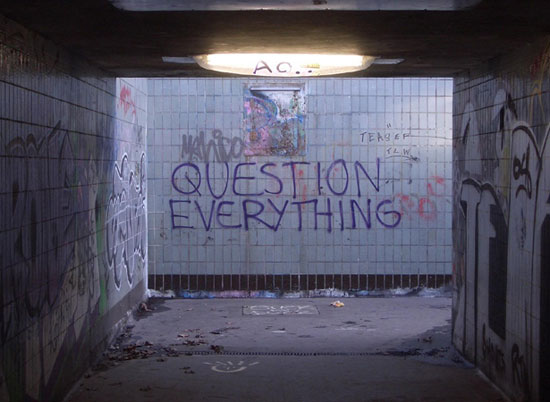 QUESTION EVERYTHING wallpaper