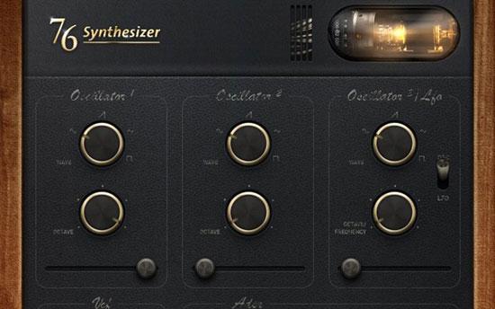 76 Synthesizer iPad Design