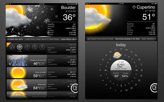 ACCU WEATHER for iPad iPad Design