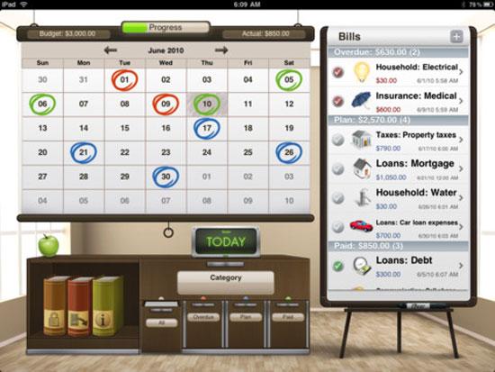 Bills for iPad iPad Design
