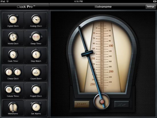 Clock Pro HD iPad Design
