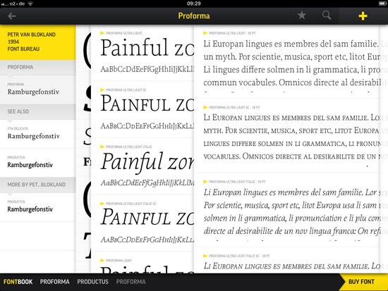 Fontbook iPad Design