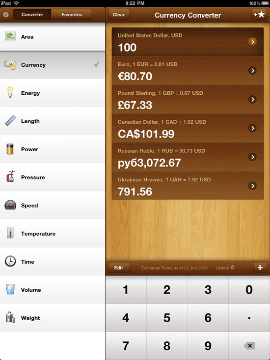 GlobeConvert Pro iPad Design