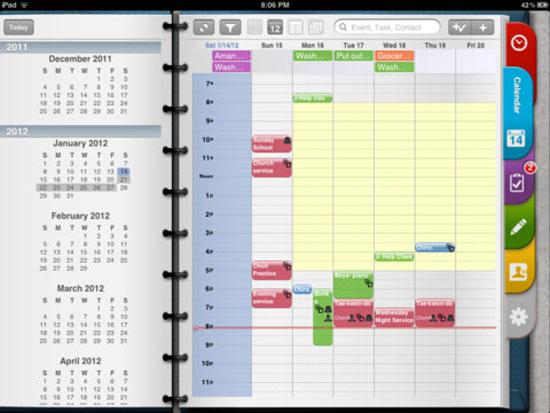 Pocket Informant HD iPad Design