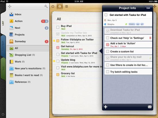 Taska iPad Design