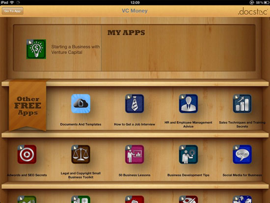 VC Money iPad Design