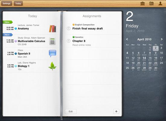 iStudiez Pro iPad Design