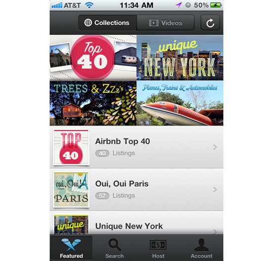 Airbnb iPhone App Design Inspiration