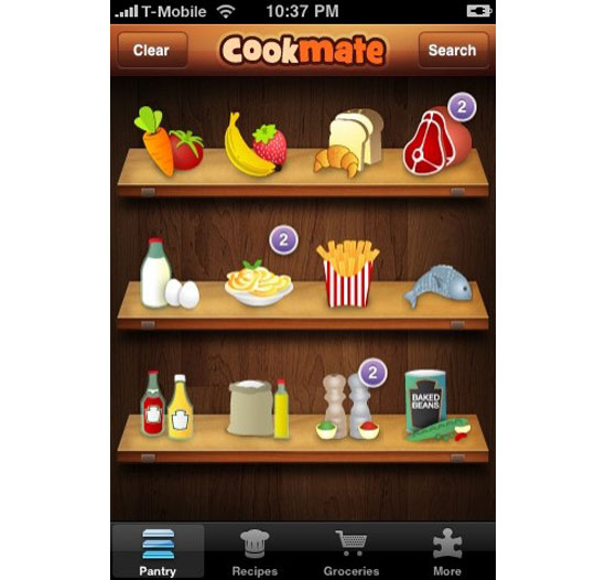 Cook Mate iPhone App Design Inspiration