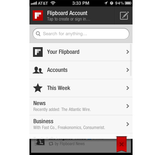 Flipboard iPhone App Design Inspiration