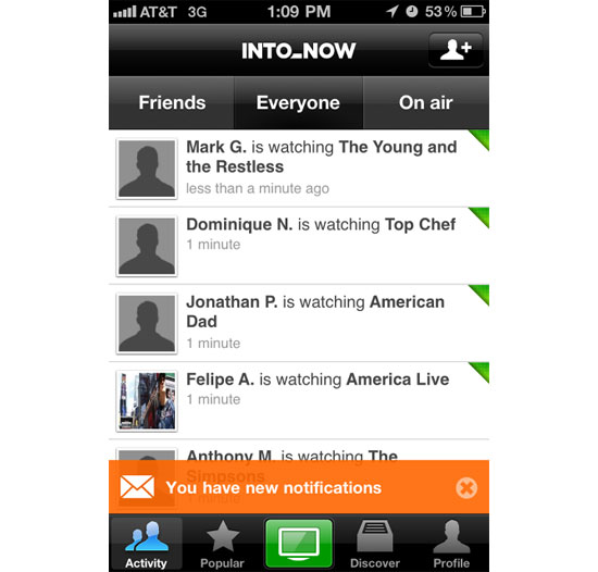 Into Now iPhone App Design Inspiration