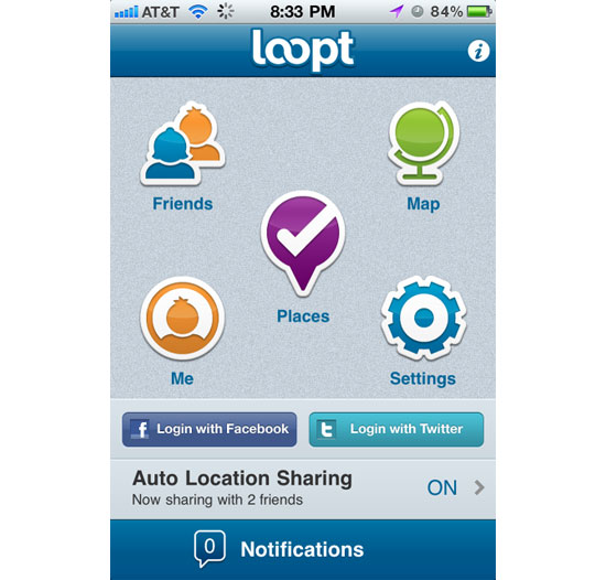 Loopt iPhone App Design Inspiration