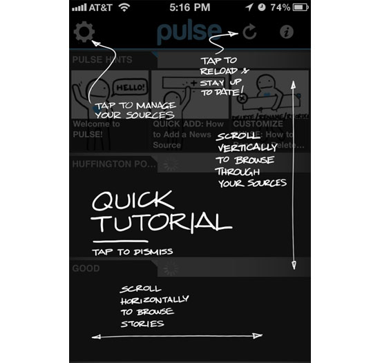 Pulse iPhone App Design Inspiration