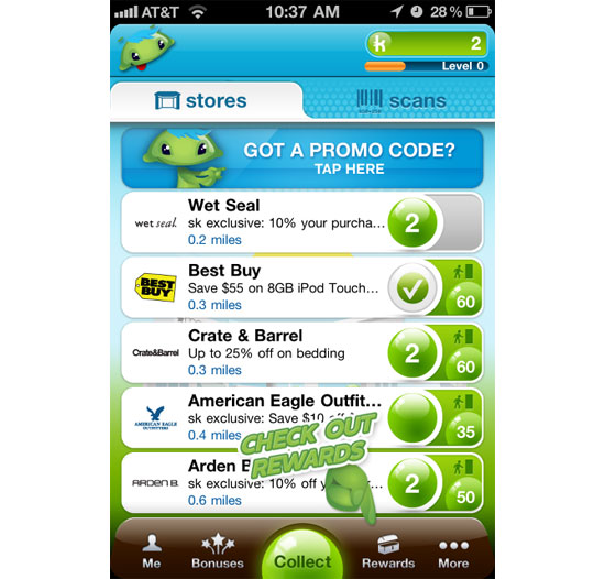 Shop Kick iPhone App Design Inspiration