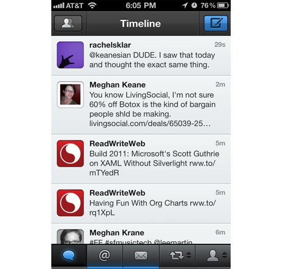 Tweetbot iPhone App Design Inspiration