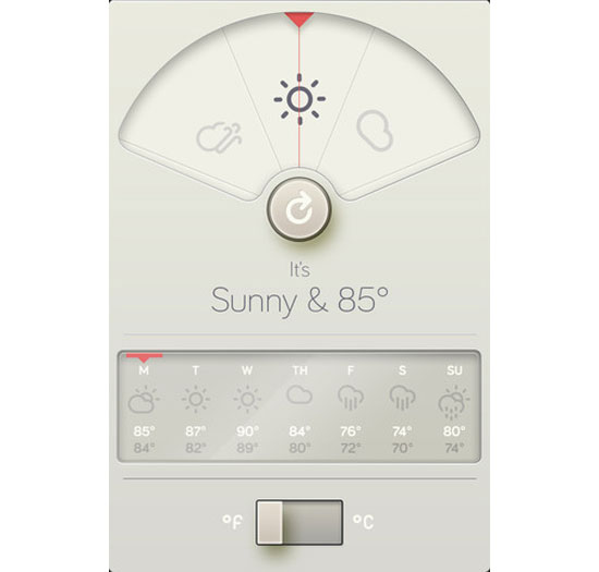WTHR iPhone App Design Inspiration