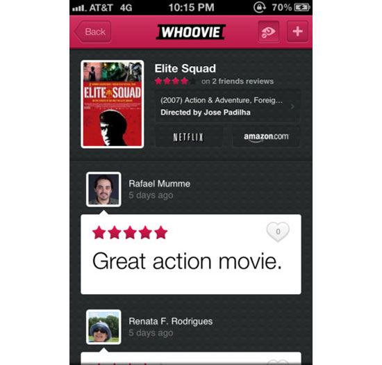 Whoovie iPhone App Design Inspiration