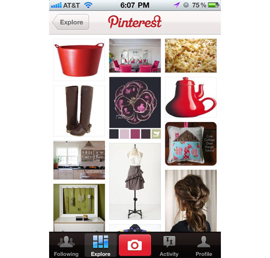pinterest iPhone App Design Inspiration