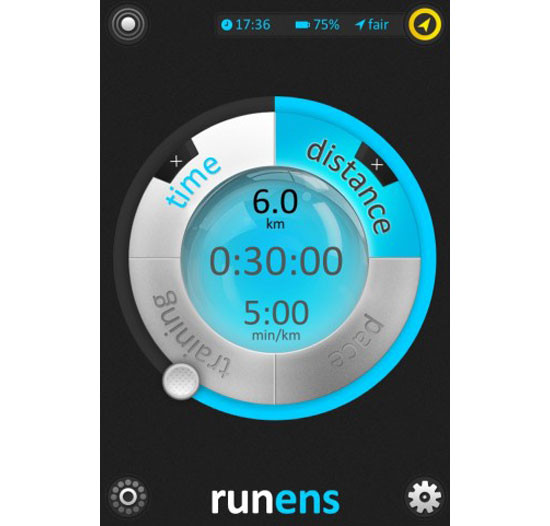 runens iPhone App Design Inspiration