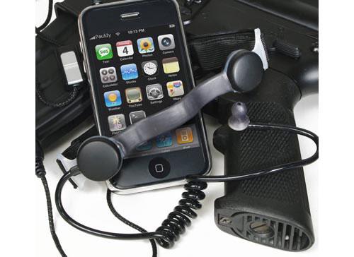Black Ops Throat Mic iPhone Headset