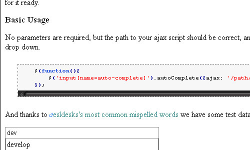 Auto Complete jquery form plugin