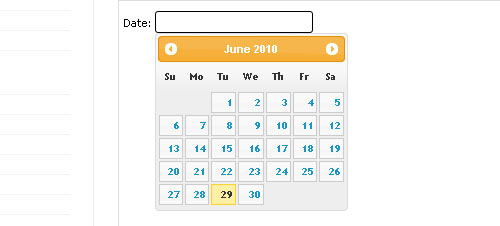 Datepicker jquery form plugin