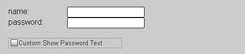 usability for password masking jquery form plugin