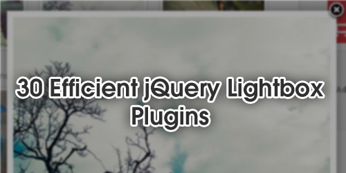 30 Efficient jQuery Lightbox Plugins
