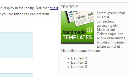 Easy Tooltip - jQuery plugin