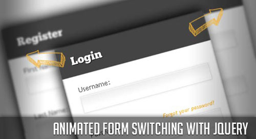 Animated Form Switching with jQuery tutorial