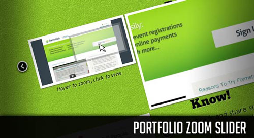 Portfolio Zoom Slider with jQuery tutorial