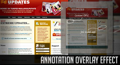 Annotation Overlay Effect with jQuery tutorial