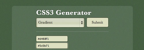 Creating a CSS3 Generator with CSS3, HTML5 and jQuery tutorial