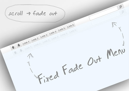 Fixed Fade Out Menu: A CSS and jQuery Tutorial