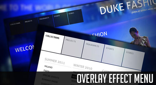 Overlay Effect Menu with jQuery tutorial