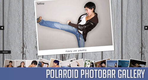 Polaroid Photobar Gallery with jQuery tutorial