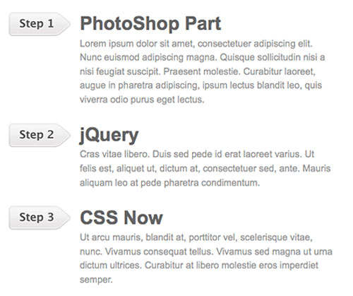 Sequential List jQuery tutorial