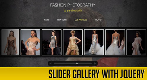Slider Gallery with jQuery tutorial