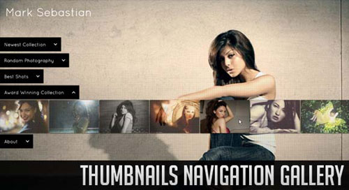 Thumbnails Navigation Gallery with jQuery tutorial