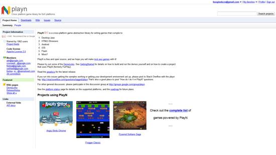 PlayN Javascript & HTML5 game engine library