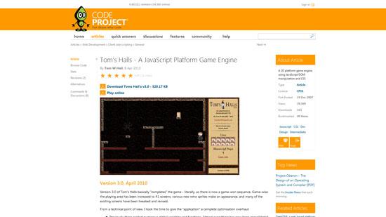 Tom's Halls Javascript & HTML5 game engine library